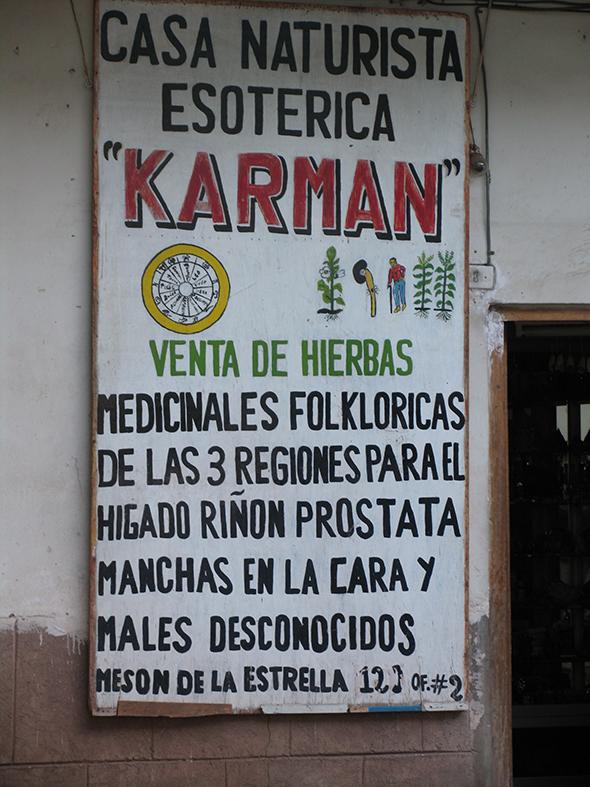 Cartel en Cuzco, Perú. Foto (c) Jesus Garcia Marin