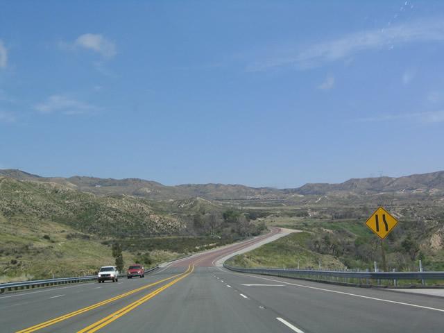 Un tramo de la I 15 a su paso por California
