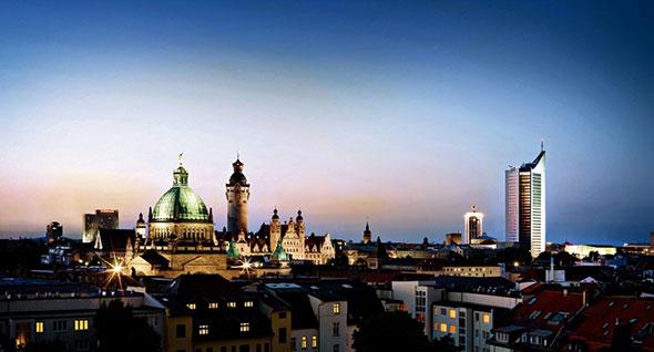 Panorámica de Leipzig, ciudad natal de Richard Wagner