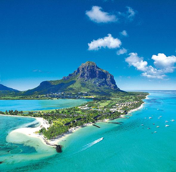 Vista aérea del hotel 5* Lujo Paradís en Isla Mauricio