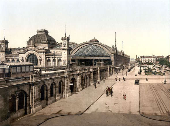 La Estación Central de Dresde, alrededor de 1900 | Viajar por Alemania en tren con DB y Tu Gran Viaje
