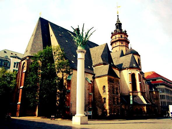 Iglesia de San Nicolas de Leipzig. Foto (c) Turismo de Leipzig