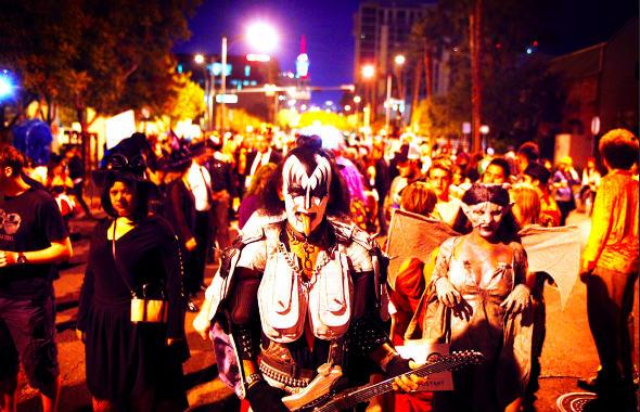Noche de Halloween en Las Vegas