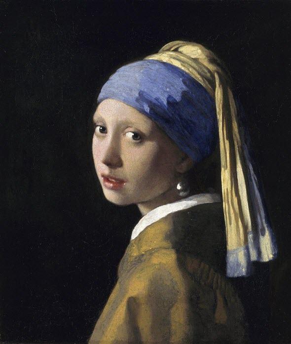 La joven de la perla, de Vermeer