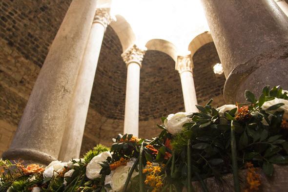 Los baños árabes de Girona. Foto Mariona Otero. Temps de Flors 2014