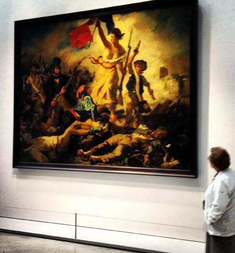 """La libertad guiando al pueblo, el """"cuadro estrella"""" del museo Lens-Louvre en la región de Nord-Pas de Calais"""