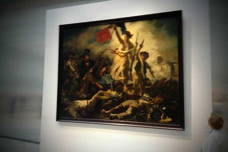 La libertad guiando al pueblo en el museo Louvre-Lens. © tu Gran Viaje