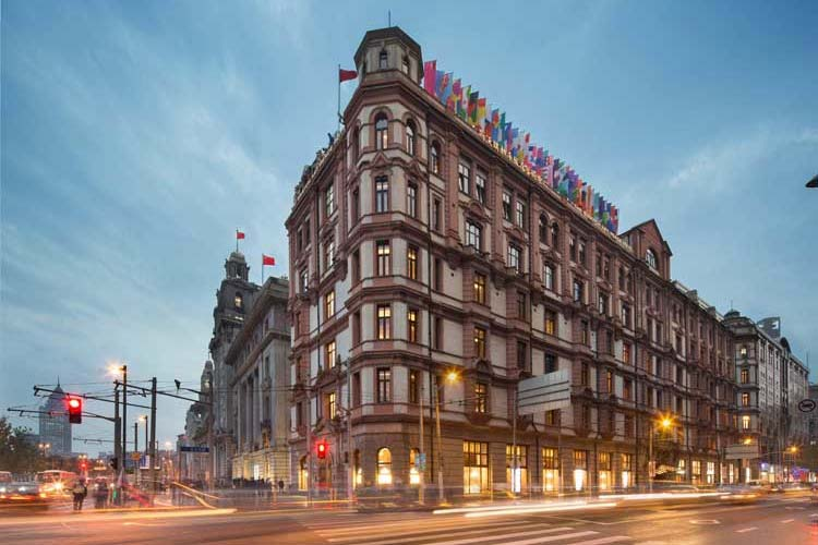 Exterior del Swatch Arts Peace Hotel de Shanghai