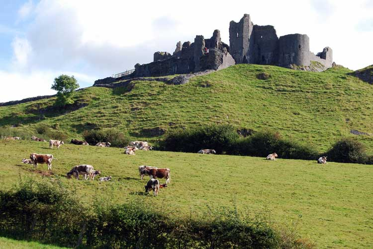 Castillo de Carreg Cennon. Foto de Chris Jobling.