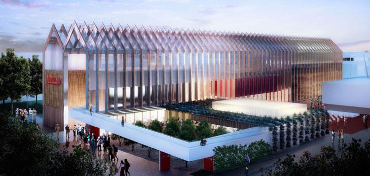Recreación del Pabellón de España en la Expo de Milán 2015