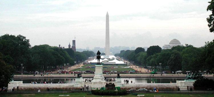 Panorámica del Mall de Washington DC desde el Capitolio.