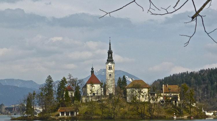 Iglesia de Bled, Eslovenia.
