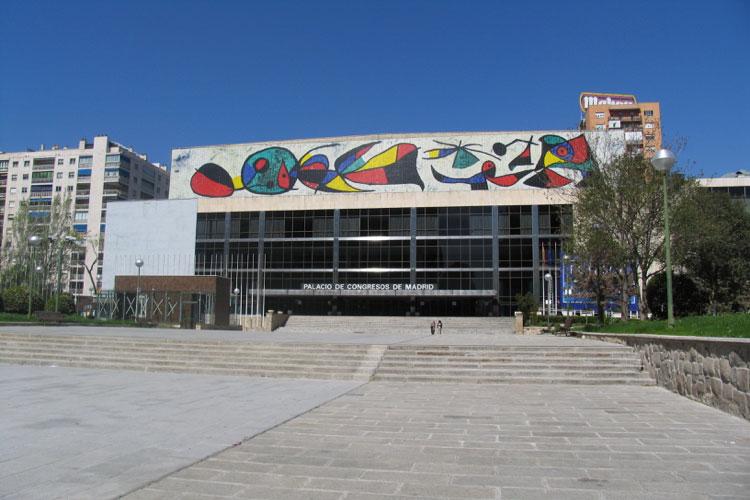 Fachada actual del Palacio de Congresos de Madrid. Foto © Jesús García Marín