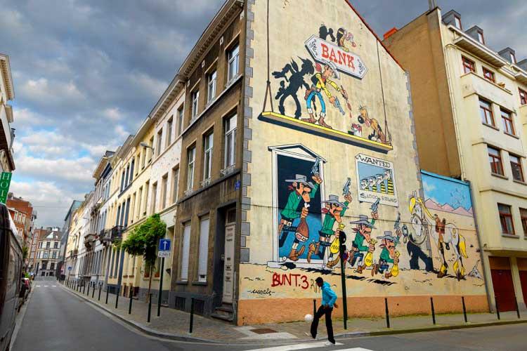 Ruta del Cómic de Bruselas. Foto © Visit Flanders