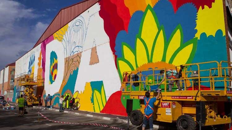 Arte urbano en MulaCity Getafe. Foto Kike Glez