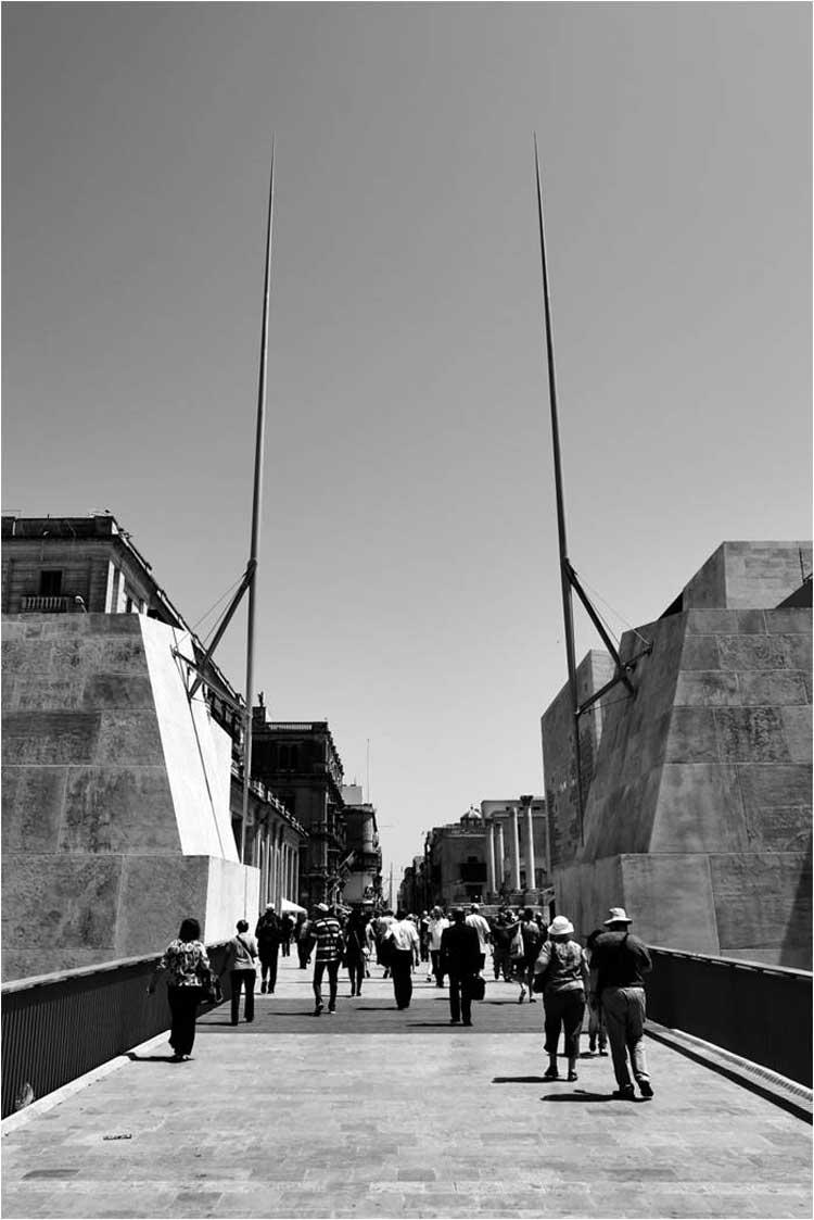 Puente del Valleta City Gate de Renzo Piano