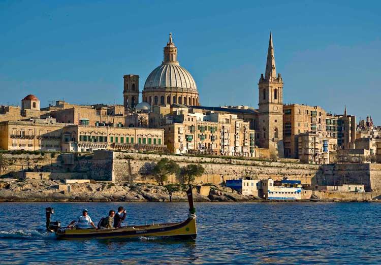 La Valeta (Malta) vista desde el puerto de Marsamxett. Foto: Clive Vella