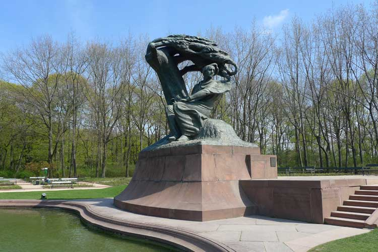 Monumento a Chopin en el parque Lazienki. Foto © Ángel Ingelmo