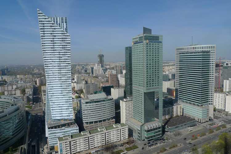Vistas desde el mirador del Palacio de las Ciencias de Varsovia. Foto © Ángel Ingelmo
