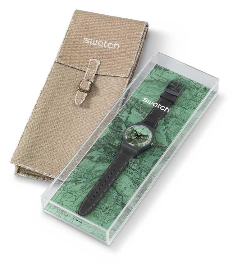 Swatch ha limitado la edición del reloj The Route a 4.478 piezas, la cifra en metros del Monte Cervino.
