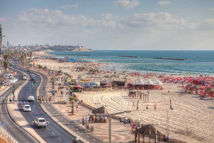 Frente marítimo de Tel Aviv, Israel. Foto © Turismo de Israel