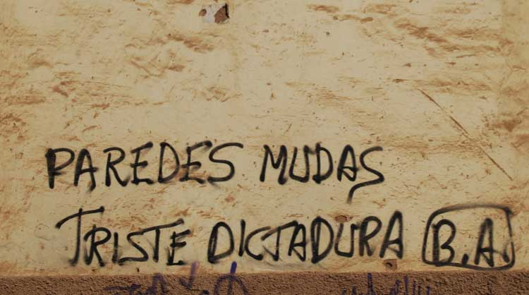 """""""Paredes mudas, Triste dictadura"""". Foto © Jesús García Marín"""