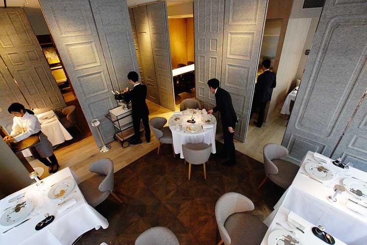Comer en Tokio. Restaurante Dominique Bouchet