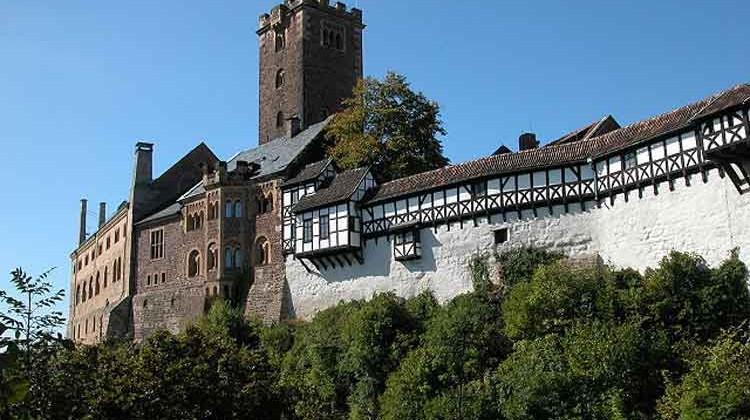 El imponente castillo de Wartburg. en Eisenach. Foto © ONAT