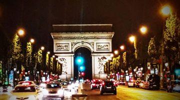 París con Tissot. Arco del Triunfo de noche. Foto © Tu Gran Viaje