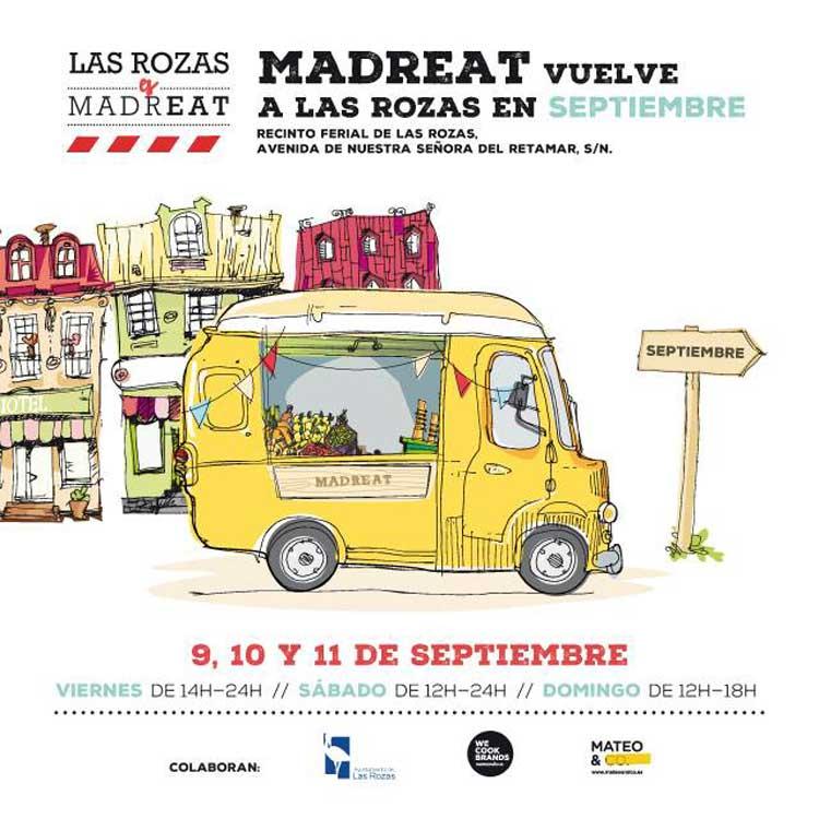 Cartel de la 3ª edición de Las Rozas Es MadrEAT. Tu Gran Viaje