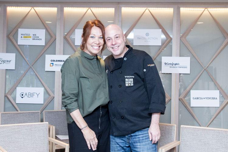 Leonor Espinosa, chef del restaurante LEO y Jorge Rausch, chef del restaurante Criterion. Foto © Luis Gaspar