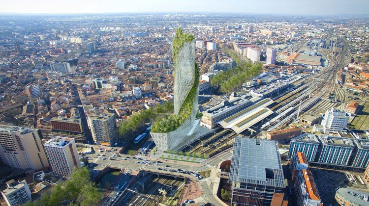 Occitaine Tower, Toulouse. © Studio Libeskind / Compagnie de Phalsbourg