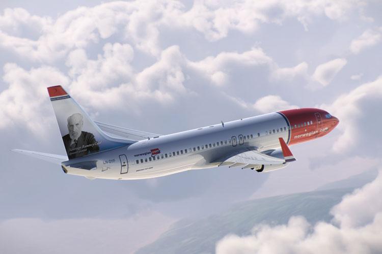 Norwegian ha decorado la cola de uno de sus aviones más nuevos con la imagen del científico y premio Nobel de Medicina Santiago Ramón y Cajal.