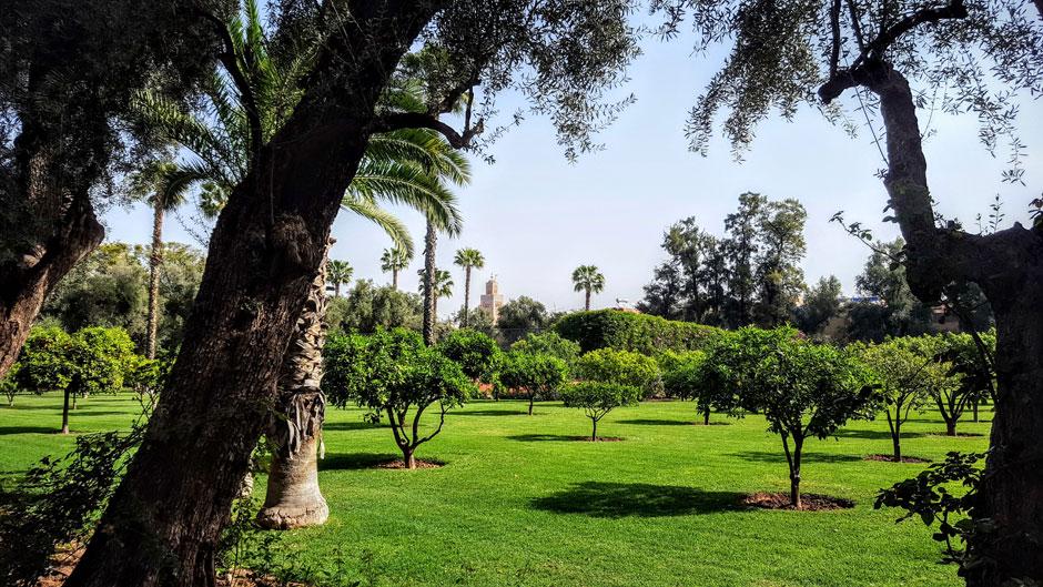 La Koutobia desde los jardines del hotel La Mamounia Marrakech. © Tu Gran Viaje