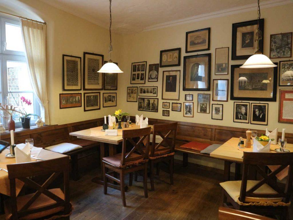 La mesa de Richard Wagner en el restaurante Eule de Bayreuth. © Tu Gran Viaje. Viajar a Bayreuth