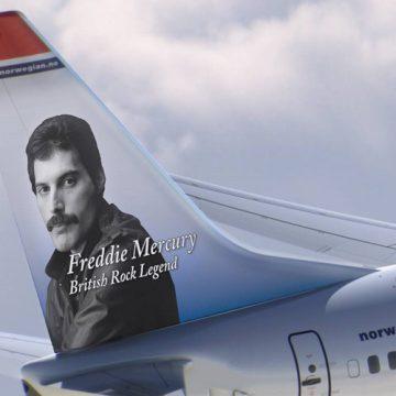 Freddie Mercury, la leyenda del rock que surca los cielos de Norwegian