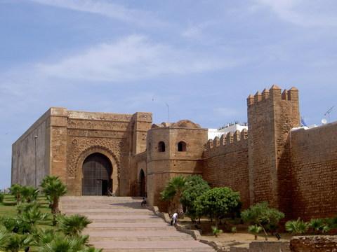 Puerta de la fortaleza de los Udaia, Rabat, Marruecos