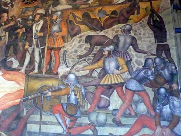 Mural de Diego Rivera en el Palacio Nacional de Ciudad de México en El Zócalo. Foto (c) Tu Gran Viaje