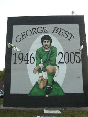 Mural de George Best en Cregagh Estate, Belfast, Irlanda del Norte
