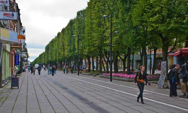 Calle Laisves, Kaunas. Foto de Phillip Capper