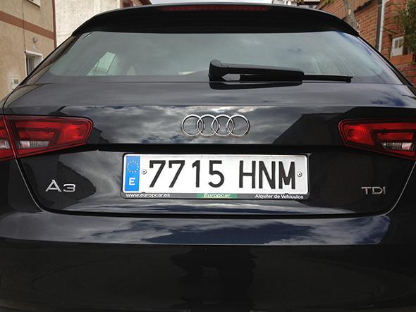 El Nuevo Audi A3, coche del servicio To My Door de Europcar