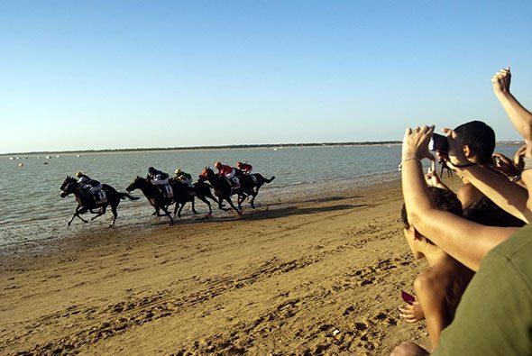 Las célebres carreras de caballos de Sanlúcar de Barrameda, Cádiz