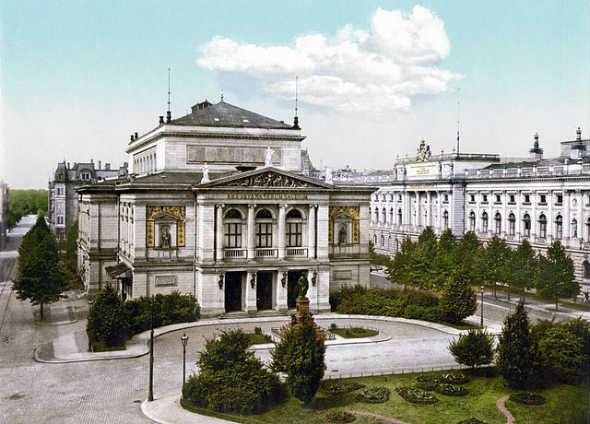 Gewandhaus de Leipzig, en 1900