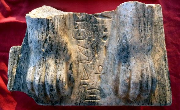 Esfinge de Tel Hazor. Fotos cortesía de los arqueólogos, el profesor Amnón Ben-Tor y la Dra. Sharon Zuckerman