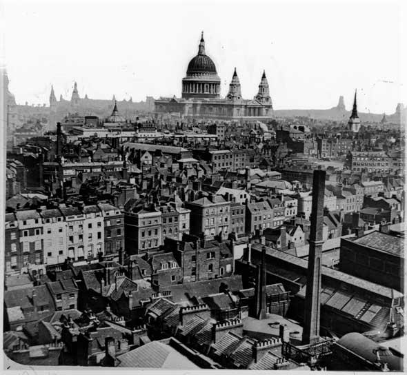 Tejados de Londres, circa 1865