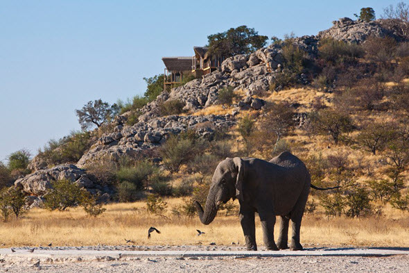 Dolomite Camp del Parque Nacional de Etosha, Namibia