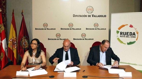 La Ruta del Vino de Rueda firma un acuerdo de colaboración con la Diputación Provincial de Valladolid