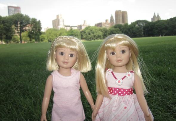 Nuestras muñecas American Girls, disfrutando de un picnic en Central Park
