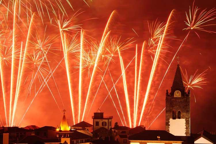 Fiesta de Nochevieja y Año Nuevo en la isla de Madeira, Portugal