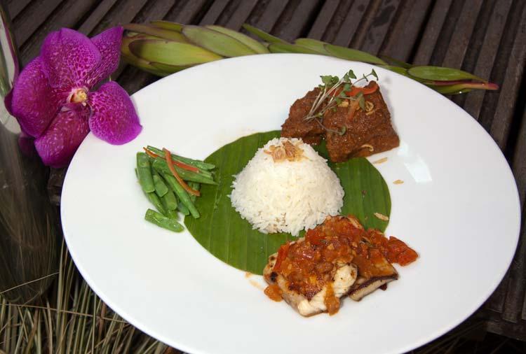 gastronomía indonesia en el hotel Intercontinental de Madrid